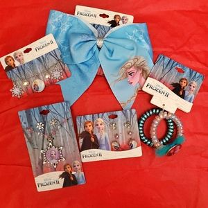 Frozen kids jewelry and hair bundle